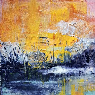 Celebrating the Wild by Prenita Dutt, Abstract Painting, Acrylic on Canvas, Beige color