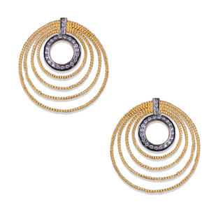 CONCENTRIC CIRCLE EARRING by Symetree, Contemporary Earring