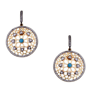 FILIGREE DISC EARRING by Symetree, Contemporary Earring
