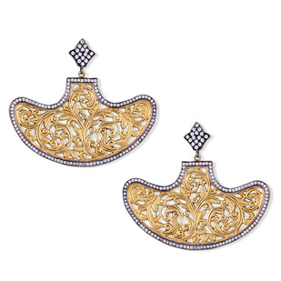 BOAT SHAPE FILIGREE EARRING by Symetree, Art Jewellery Earring