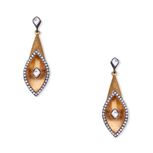 TRUNCATED TEXURED EARRING by Symetree, Contemporary Earring
