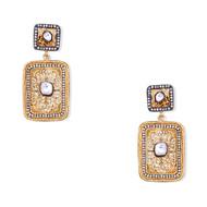 SQAURE FILIGREE EARRING by Symetree, Art Jewellery Earring