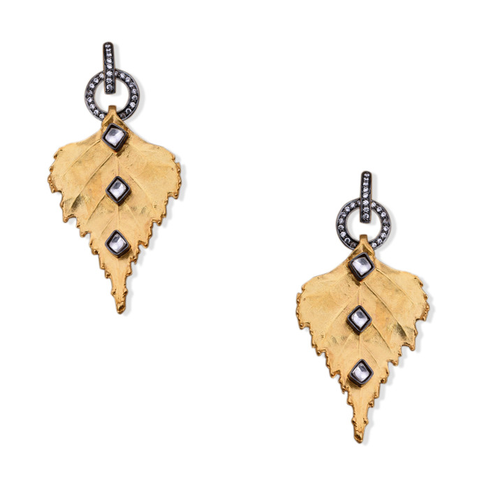 GILDED LEAF EARRING by Symetree, Art Jewellery Earring