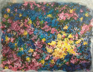melody of nature by dilraj kaur, Impressionism Painting, Acrylic on Canvas, Brown color