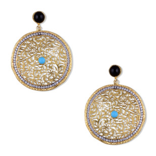 FILIGREE DISC EARRING by Symetree, Art Jewellery Earring