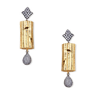 TEXTURED CYLINDER EARRING Earring By Symetree
