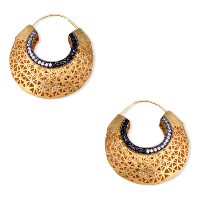 FILIGREE HOOPS by Symetree, Contemporary Earring