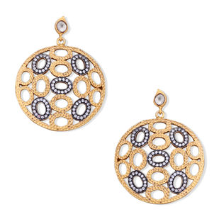 TEXTURED DISC EARRING by Symetree, Contemporary Earring