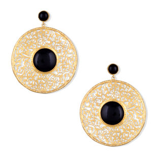FILIGREE DISC EARRINGS Earring By Symetree