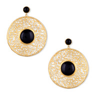 FILIGREE DISC EARRINGS by Symetree, Contemporary Earring