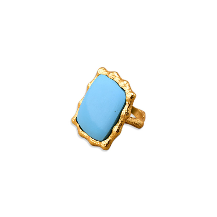 ORGANIC TURQUOISE RING by Symetree, Contemporary Ring