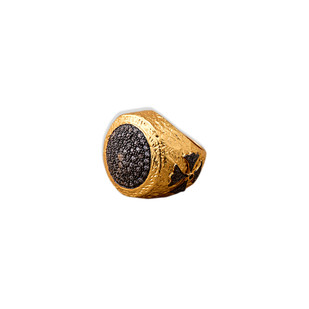 TWO-TONED CUBIC ZIRCONIA RING by Symetree, Art Jewellery Ring
