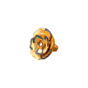 CUBIC ZIRCONIA ROSE RING by Symetree, Art Jewellery Ring