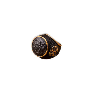 TWO-TONE MUGHAL RING by Symetree, Art Jewellery Ring