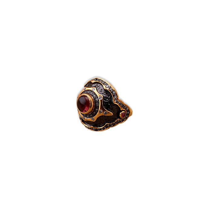 TWO -TONE TOURMALINE RING by Symetree, Art Jewellery Ring