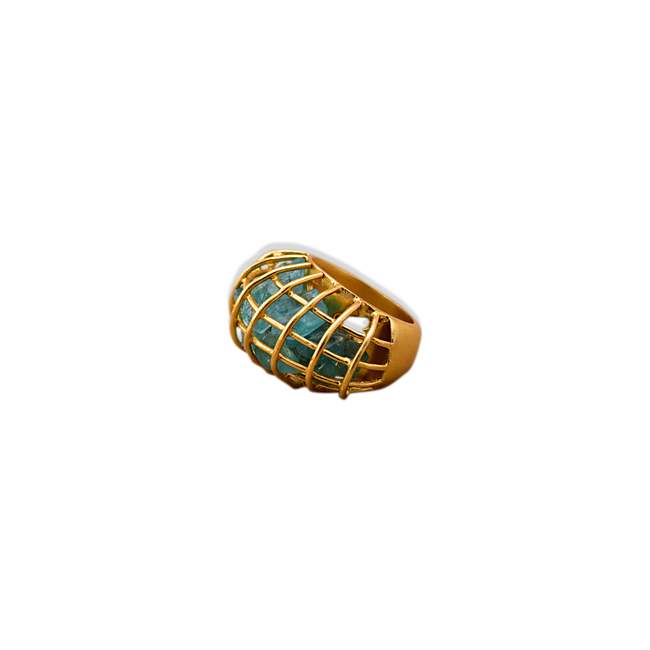 CAGE RING by Symetree, Art Jewellery Ring