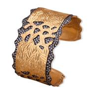 SEALLOPED EDGE CUFF by Symetree, Art Jewellery Bangle