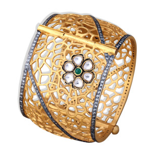 POLKI BLOSSOM FILIGREE BANGLE by Symetree, Art Jewellery Bangle