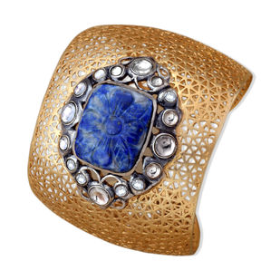FILIGREE LAPIS CUFF by Symetree, Art Jewellery Bangle