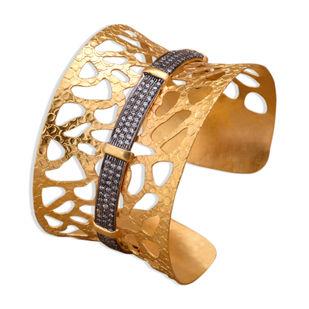 Textured Cut Cuff Bangle By Symetree