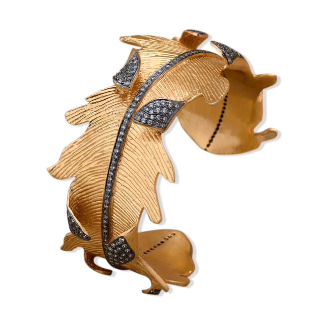 Whimsical Autumn Cuff by Symetree, Contemporary Bangle