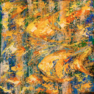 Flow of Dreams 6 by gurdish pannu, Abstract Painting, Acrylic on Canvas, Brown color