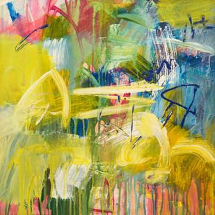 Maze by Vidya Sagar Singh, Abstract Painting, Acrylic on Canvas, Beige color
