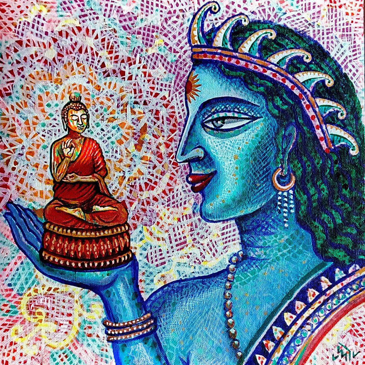 THE IDOL MAKER Digital Print by Pradip Sarkar,Decorative