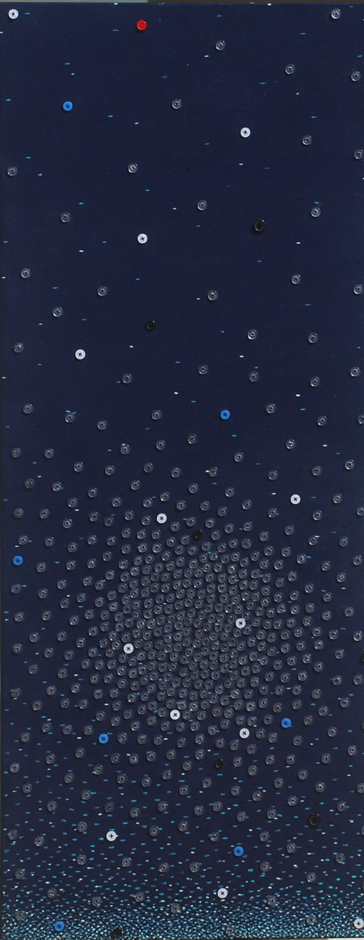 Starry night-II by Hemavathy Guha, Conceptual Painting, Mixed Media on Canvas, Blue color