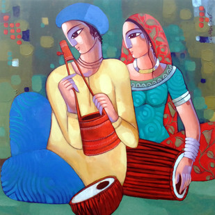 Bengali tune Digital Print by Sekhar Roy,Decorative