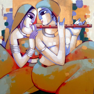 Romantic couple Digital Print by Sekhar Roy,Decorative