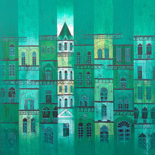 GREEN CITY- 824 Digital Print by Suresh Gulage,Geometrical