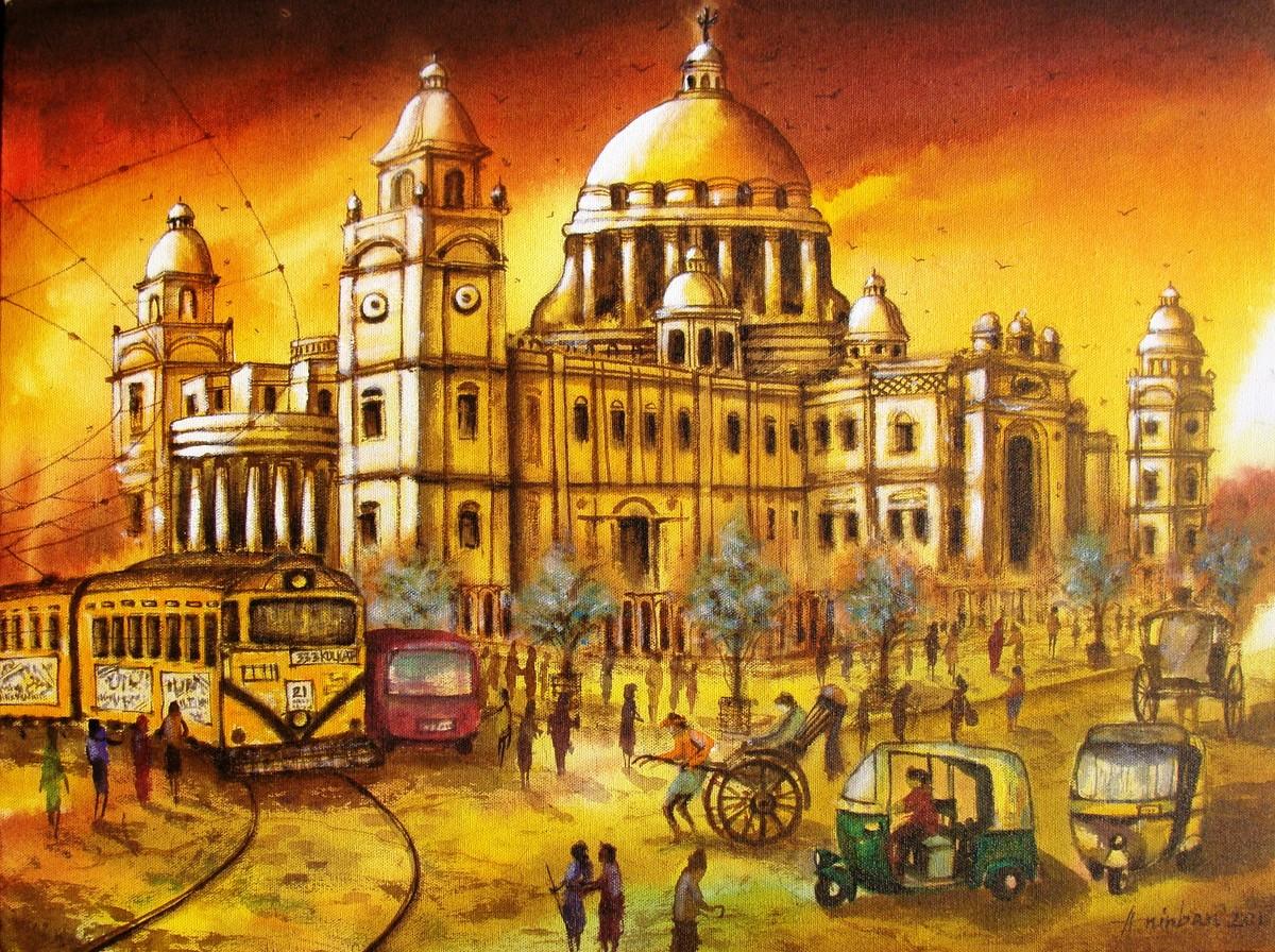 Victoria Memorial In Kolkata By Artist Anirban Seth