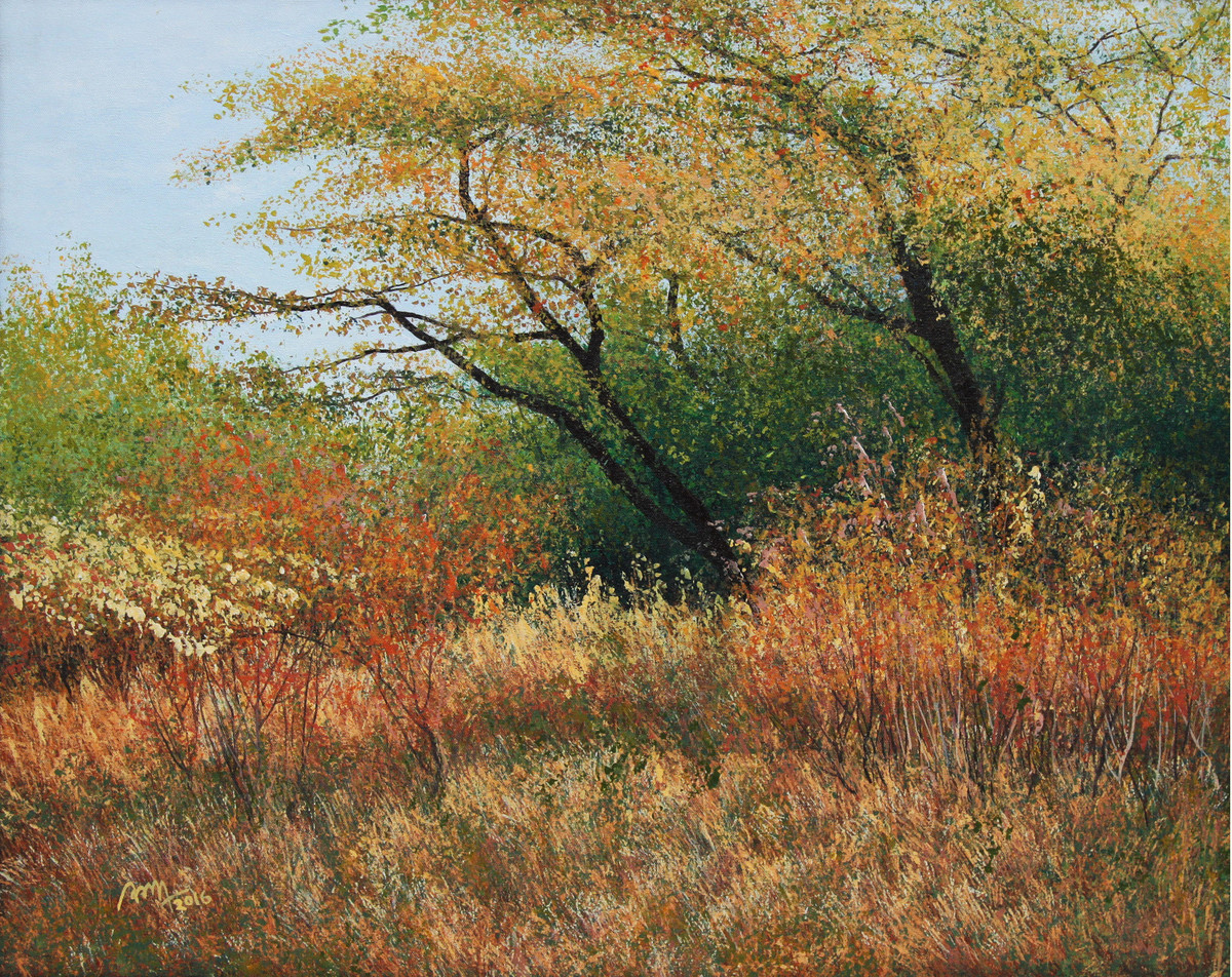 Crispy Grass by Vimal Chand, Impressionism Painting, Acrylic on Canvas, Brown color