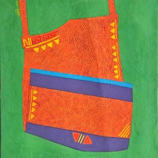 childhood memory - 1 by Amit Biswas, Expressionism Painting, Gouache on Paper, Green color