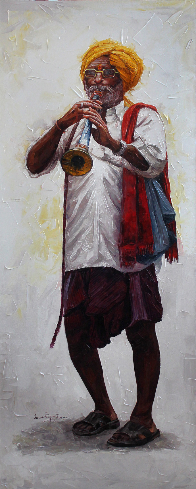 Figure_02 by Iruvan Karunakaran, Expressionism Painting, Acrylic on Canvas, Gray color