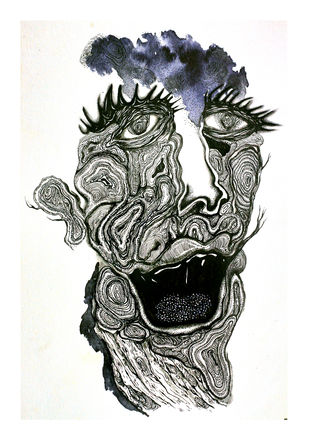 Solace- Union 2 by Tanushree Roy Paul, Illustration Drawing, Ink on Paper, White color