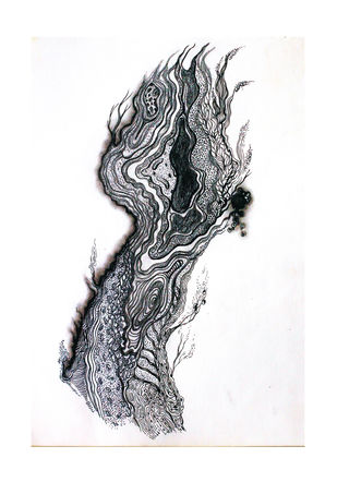 Solace- Union 3 by Tanushree Roy Paul, Illustration Drawing, Ink on Paper, White color
