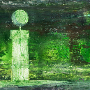 SENTINEL SERIES, GREEN Digital Print by Adil Writer,Expressionism