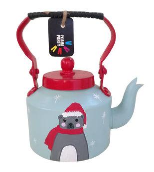 Tiny teapot hand-painted-Bobo the bear Serveware By Pyjama Party Studio