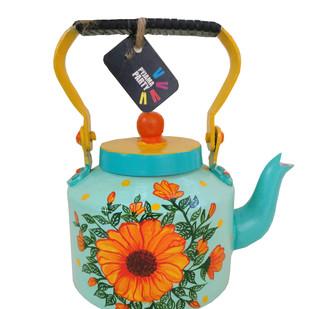 Tiny teapots hand-painted-Sun drop flower Serveware By Pyjama Party Studio