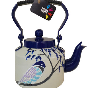 Tiny teapots hand-painted- Blue Bird Serveware By Pyjama Party Studio