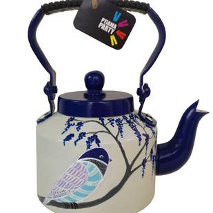 Tiny teapots hand-painted- Blue Bird Serveware By Pyjama Party Studio
