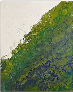 Green Sea 1 by Kartikey Sharma, Abstract Painting, Acrylic on Canvas, Green color