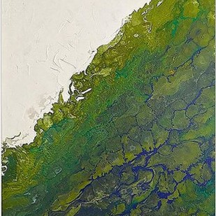 Green Sea 1 Digital Print by Kartikey Sharma,Abstract