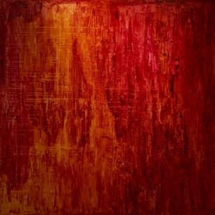 HEAVEN- A SOUL IN PEACE-II by PRATAP SINGH, Abstract Painting, Acrylic on Canvas, Red color