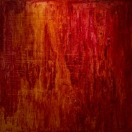 HEAVEN- A SOUL IN PEACE-II by PRATAP SINGH, Abstract Painting, Oil on Canvas, Red color