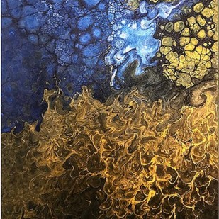 Aurum by Kartikey Sharma, Abstract Painting, Acrylic on Canvas, Brown color