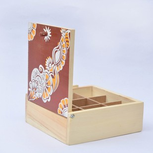 IVEI Hand painted wooden Chowk Art trinket box Decorative Box By i-value-every-idea