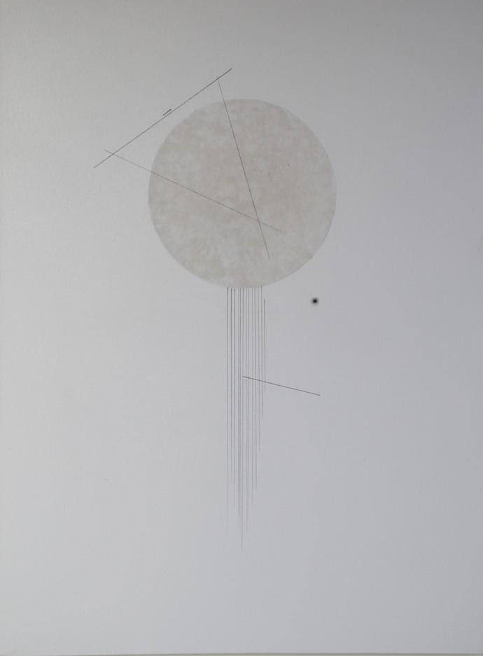 Untitled by Faiza Huma, Minimalism Painting, Mixed Media on Canvas, Gray color